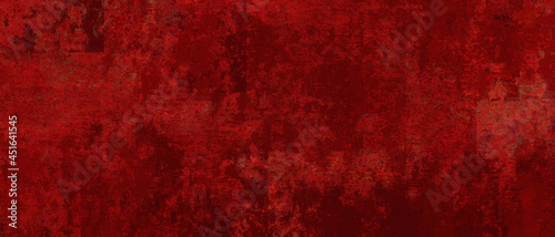 Fotografija Elegant fancy rich red texture paper cracked and scratched wall  or antique meta