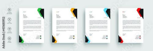 Business letterhead, Modern company letterhead template design