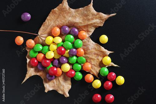 Colorful skittles candies Fototapeta