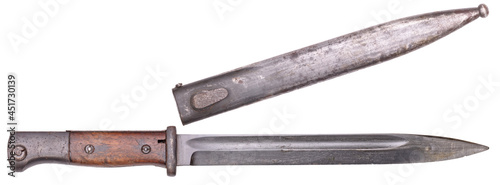 Obraz na płótnie German army ww2 period bayonet