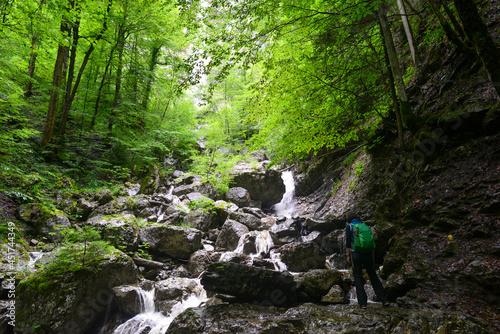Canvas Klauser Wasserfall bei Mellau, Bezirk Bregenz in Vorarlberg