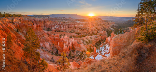 Fotografering Sunrise Point Sunrise Panorama