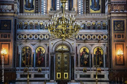 Foto beautiful church interior in Athens, Greece