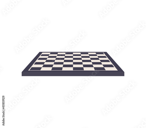 Fotografia Chess board and table game flat vector illustration.