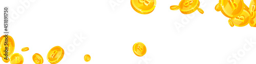 Slika na platnu Thai baht coins falling