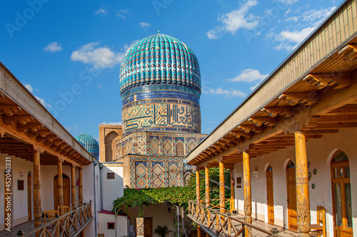 Leinwand Poster Historical Bibi Khanum Mosque in Samarkand, Uzbekistan.