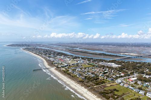 Fototapeta Aerial of Isle of Palms, SC