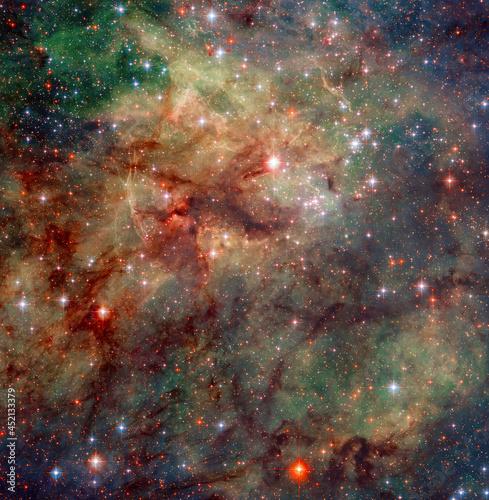 Slika na platnu Colorful Nebula with various stars