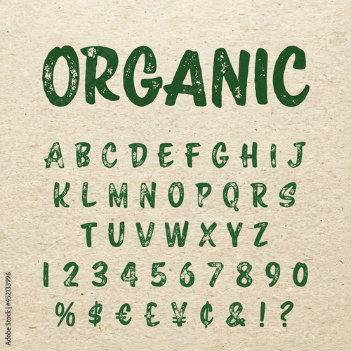 Tela Organic brush script lettering font