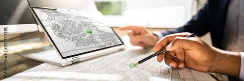 Cadastre Map And City Building Survey