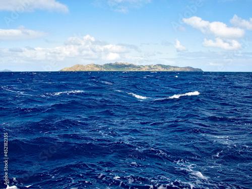 Fototapeta Mangereva, Gambier Islands, French Polynesia - view from the ocean
