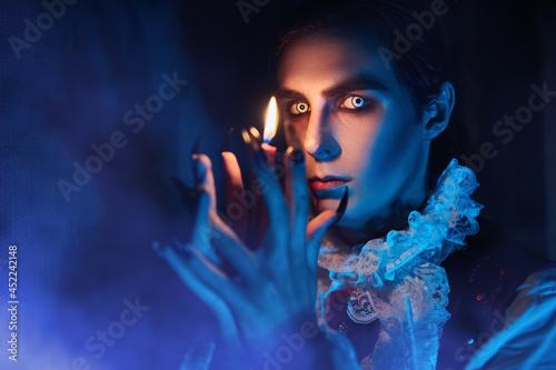 Obraz na plátne closeup of a vampire