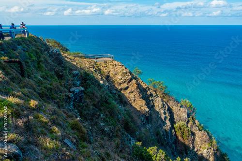 オーストラリアのゴールドコースト、バイロン・ベイ周辺の観光名所を旅行している風景 Scenes from a trip around Byron Bay, Gold Coast, Australia Fotobehang