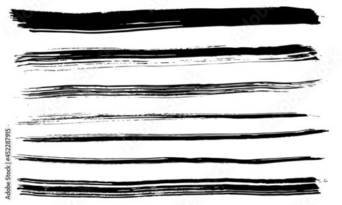 Obraz na plátne 筆 手書き ライン セット