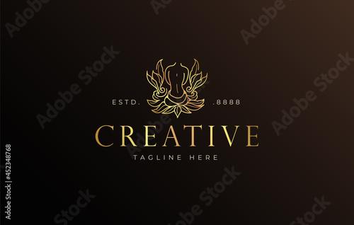 Fotografia Beauty nature body spa logo design