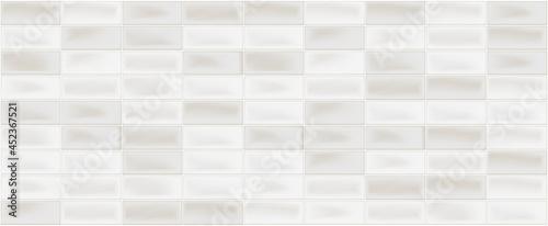 Fotografiet Ceramic beige mosaic wall tiles background