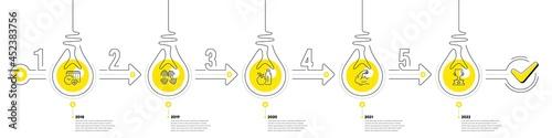 Fototapeta Lightbulb journey path infographics