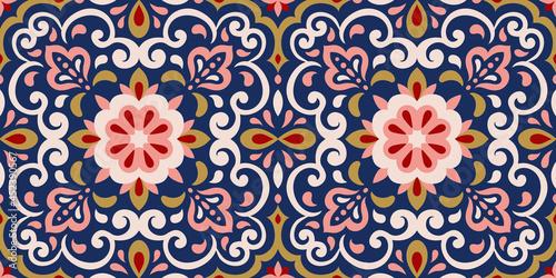 Canvastavla Azulejos ceramic tile design