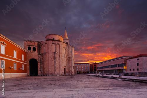 St.Donatus church on the Roma Forum in Zadar. Croatia. Fotobehang