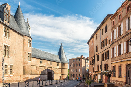 Canvas View at the Bishop palace in the street of Albi - France