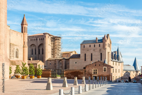 View at the Bishop palace near Cathedral of Saint Cecilia in Albi, France Fototapeta