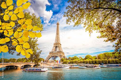 Stampa su Tela eiffel tour and Paris cityscape