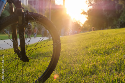Bike in the park on a sunny day with shallow depth of field Fototapeta