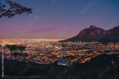 Photo Beautiful sunset in Cape Town, South Africa