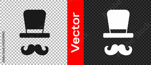 Fotografering Black Magician icon isolated on transparent background. Vector