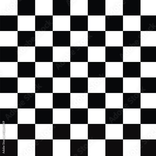 Canvas Print white chess board