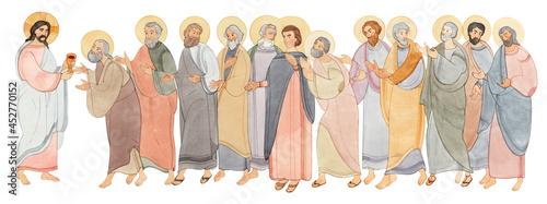 Fotografie, Obraz Watercolor illustration of the Sacrament