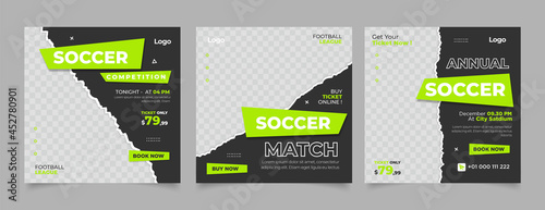 Foto social media post template for football competition