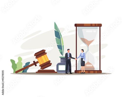 Obraz na plátně Legal law justice service illustration