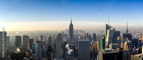 Fotografiet View of New York city and Empire State building from Top of The Rock