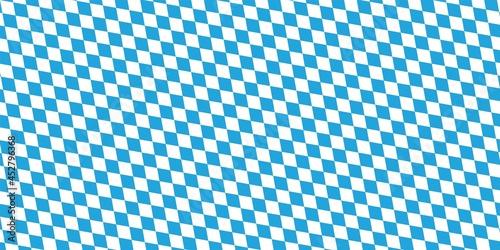 Wallpaper Mural Oktoberfest pattern with blue and white rhombus Flag of Bavaria Oktoberfest blue