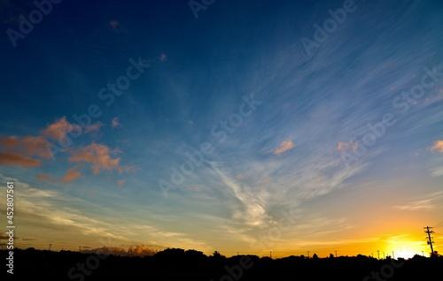 Fototapeta 沖縄県宮古島 夜明けの空