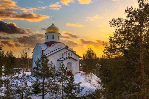 Church Karelia Fotobehang