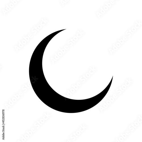 Fotografija Black crescent moon icon