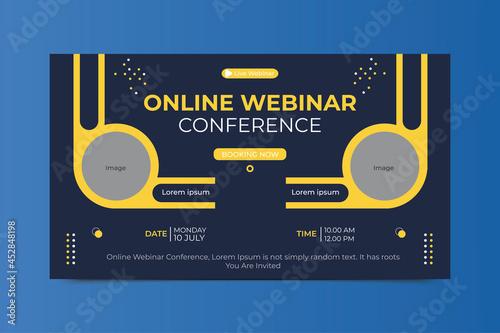 Fotografie, Obraz Conference web banner or social media horizontal banner design