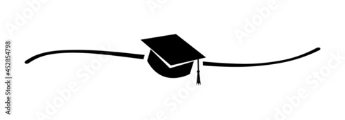 Photographie Hand drawn shape with cute sketch line and graduation cap