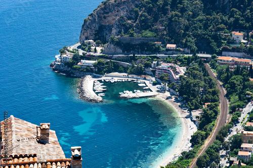Obraz na płótnie Eze France Panoramic view of the cote d'azur