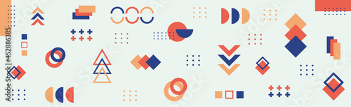 Fotografia, Obraz Abstract background with different geometric shapes - illustration