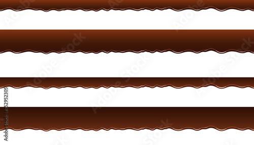 Fotografiet 垂れるチョコレートのイラスト素材セット