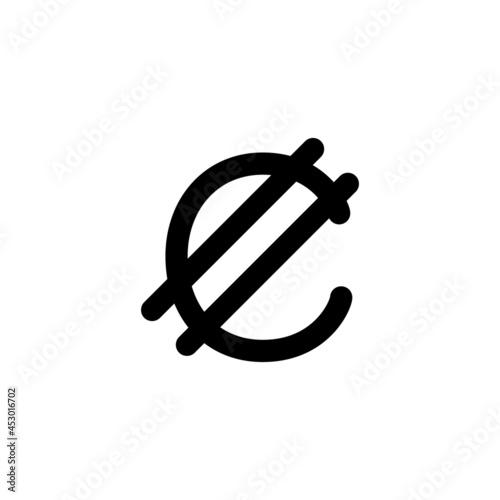 通貨記号 コロン ベクターイラスト Fotobehang