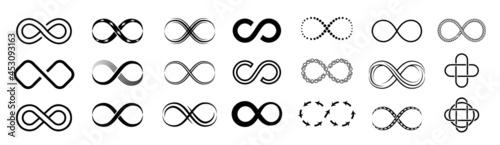 Fotografering Infinity loop icon