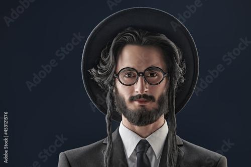 Fotografia jewish man portrait
