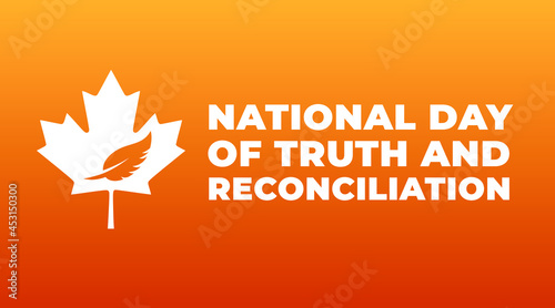 Fotografie, Obraz national day of truth and reconciliation modern creative banner, design concept,