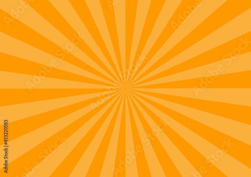 オレンジ ハロウィン 集中線 放射線 ビーム 背景 壁紙 Fototapeta