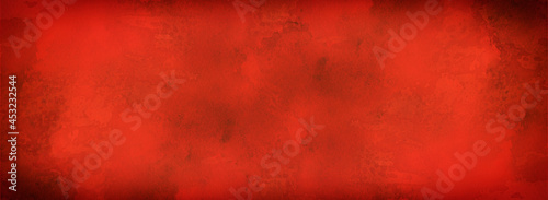 red background with grunge texture, watercolor painted Christmas red background with vintage marbled textured design on grungy red banner, distressed old antique parchment paper