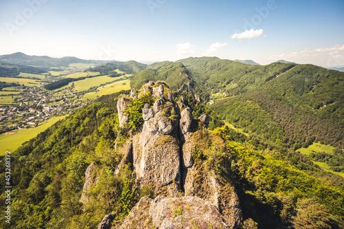 Obraz na plátně Sulov rocks with forrests during the summer
